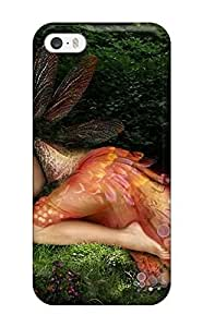 DeniseMA Premium Protective Hard Case For Iphone 5/5s- Nice Design - The Fairy And Rabbit Fantasy Abstract Fantasy
