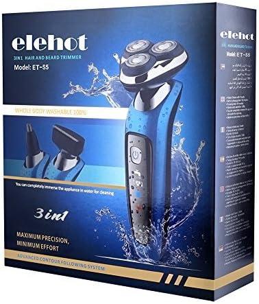 Elehot Afeitadora giratoria 3 en 1 con cabezales para afeitado ...