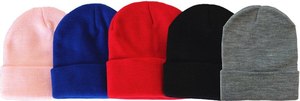 MJ Boutique 120 Pieces Per Case Bulk Beanie Hats Wholesale Children Beanie Caps (Assorted-Beanie (Kids))