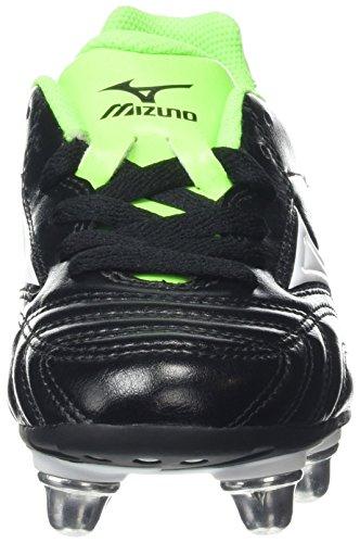Mizuno Waitangi Jr - Zapatillas de Rugby Unisex Para Niños Negro (Black/White/Green Gecko)