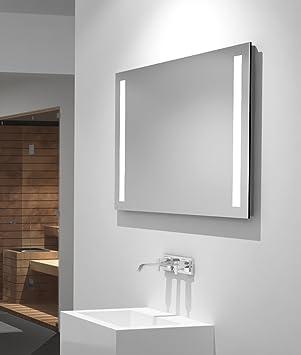 LED Badspiegel Talos Light 80 x 60 cm– Lichtfarbe 4200K - Modernes ...