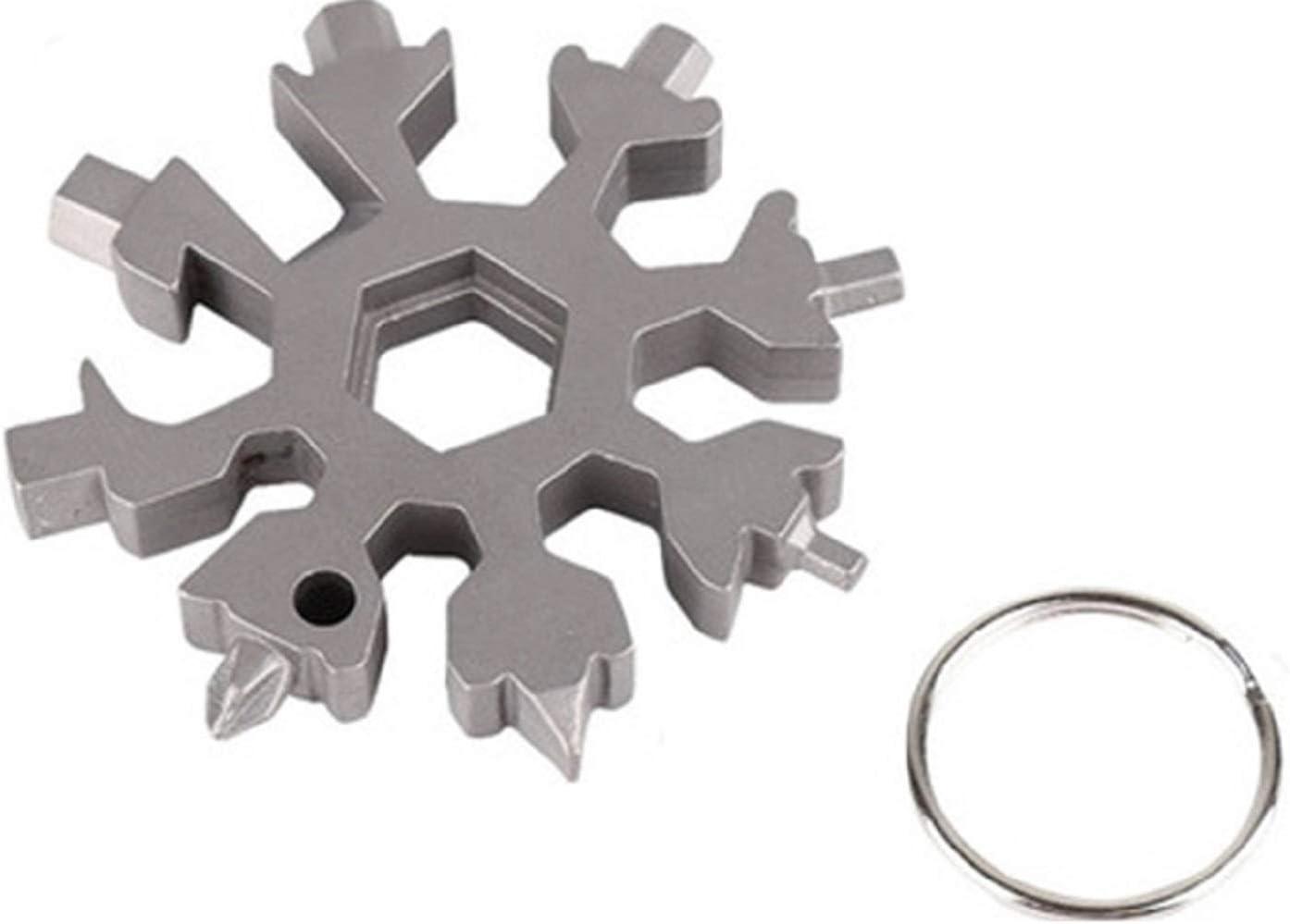 outil multifonction 12 en 1 outil de poche en acier inoxydable outil multiusages+ porte cl/é noir, gris noir Outil multifonction 18 en 1
