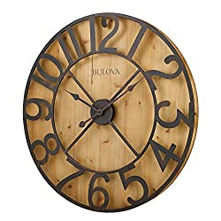 Bulova Silhouette Wall Clock, Brown