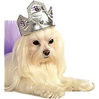 Rubies Costume Co Silver Tiara with Purple Stones Pet Costume Accessory, Small/Medium