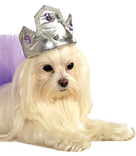 Rubies Silver Tiara with Purple Stones Pet Costume Accessory