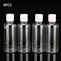 Botella viaje 4pcs 100ml Loción plástica Champú líquido