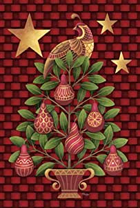 Toland Home Garden Partridge in a Pear Tree 28 x 40-Inch Decorative USA-Produced House Flag