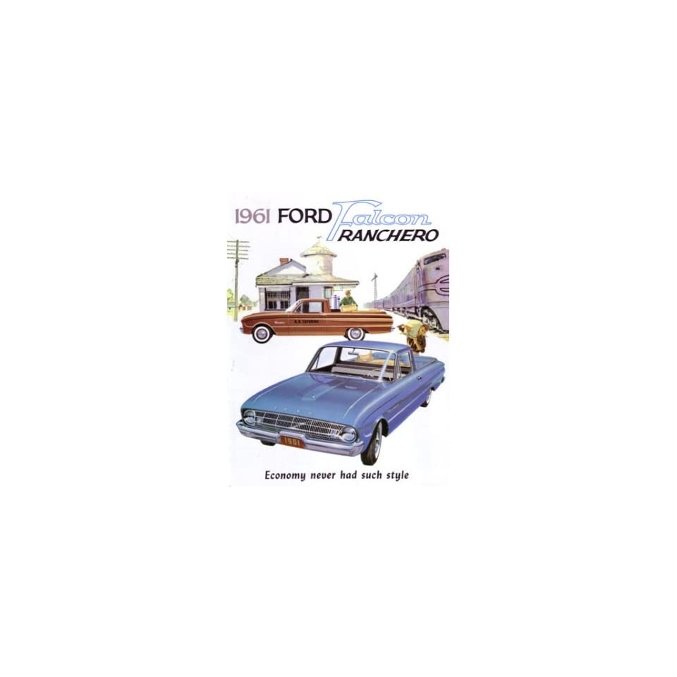 1961 FORD FALCON RANCHERO Sales Brochure Book
