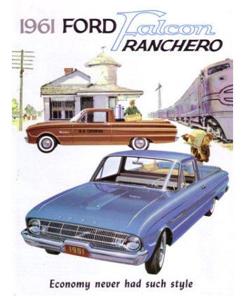 (1961 FORD FALCON RANCHERO Sales Brochure Book)