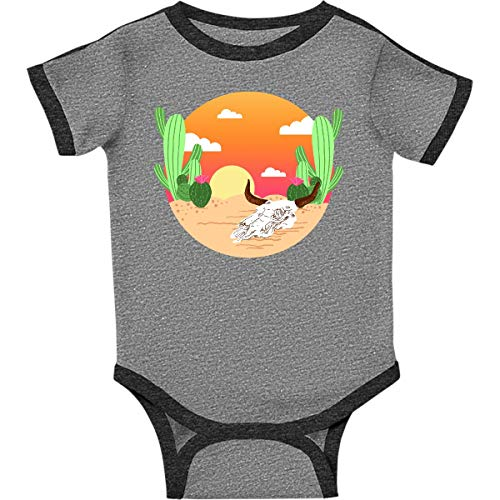 inktastic - Sunset Infant Creeper 24 Months Ringer Heather and Smoke 364b8