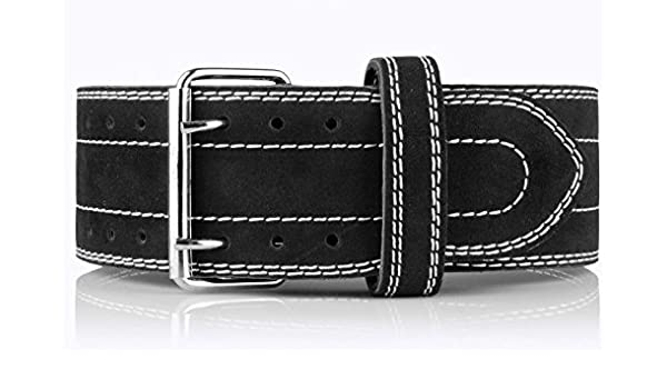 "Last Punch 4/"" Leather Black New Weight Lifting Body Building Belt Gym Fitness"