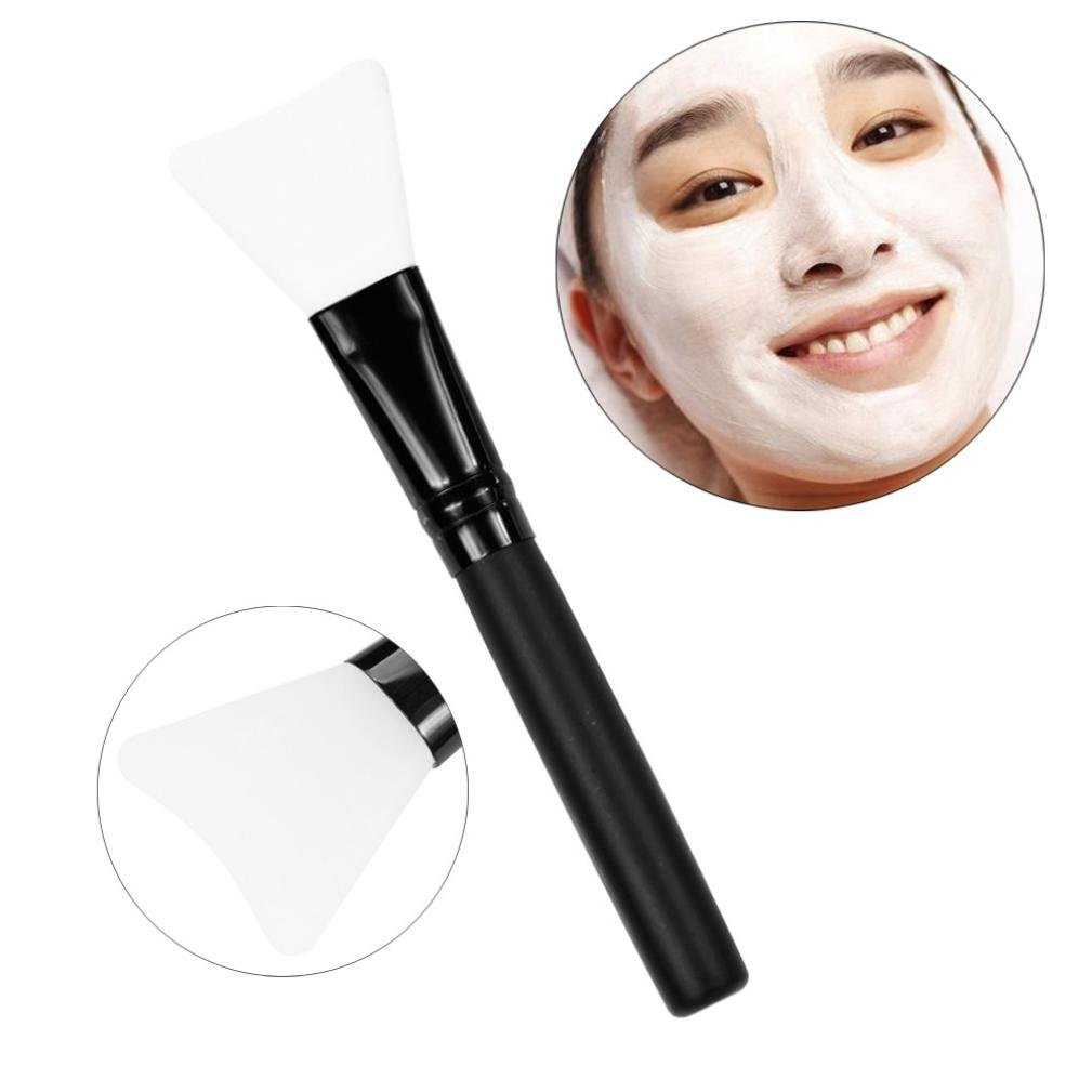 DZT1968 1Pc lightweight Wooden Ergonomic Handle Facial Face Mud Mask Mixing Brush Cosmetic Makeup Kit (clear)