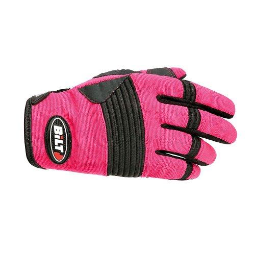(BILT Women's Takedown Off-Road Motorcycle Gloves - MD, Pink/Black)