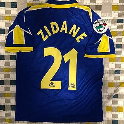 9b62f3265 Amazon.com : Retro Zidane#21 Juventus Away Soccer Jersey 1995-1996 ...
