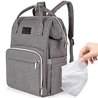 Lifecolor Diaper Bag Nappy Bags Waterproof Travel Backpack Mom Baby Care(Light Grey)