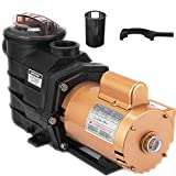 """Happybuy Swimming Pool Pump in Ground Swimming Pool Pump 2"""" Single Speed Swimming Pool Filter Pump for Pool Spa Water Circulation"""