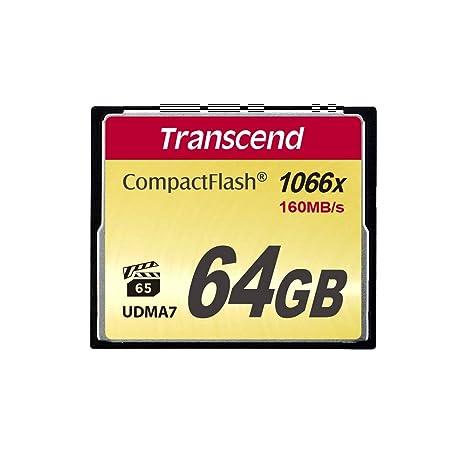 Transcend TS64GCF1000 - Memoria Compact Flash de 64 GB (UDMA 7, 1000X)