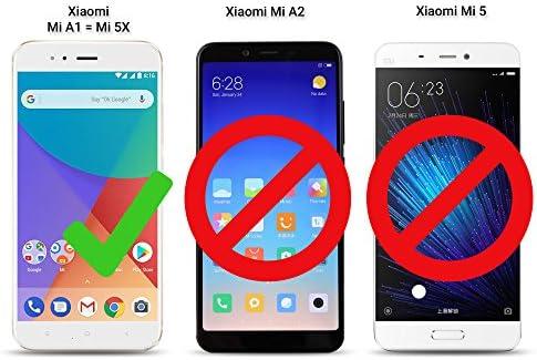 Moozy Funda para Xiaomi Mi A1, Xiaomi Mi 5X, Negra: Amazon.es ...