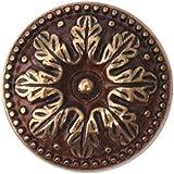 Bosetti Marella 100516.54 Louis XVI Brass Round Knob, 1.02 Inch Diameter,  French Antique Gold