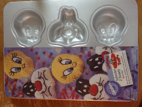 (Wilton Cake Pan: Sylvester and Tweety Mini Treats Cupcake / Muffin / Candy Mold / Pan (2105-8471, 1994) ~ 6 Single Cavities )