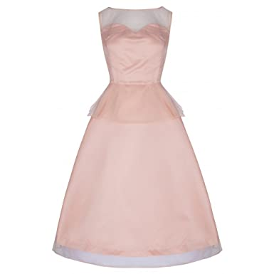 Lindy Bop Madison Glamorous 50s Peach Vintage Style Prom Party Cocktail Dress (Size