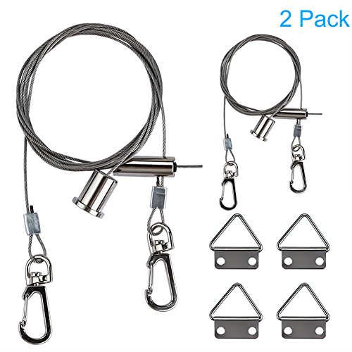LEDMO LED Panel Light Suspension Systems Kit,Suspension Cables, hanging Chains for 2x2 ft LED Panels(2-pack) (Suspension Hanging)