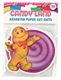 eureka paper - Eureka Candy Land Assorted Paper Cut-Outs, 12 Each of 3 Different Designs, 36-Piece