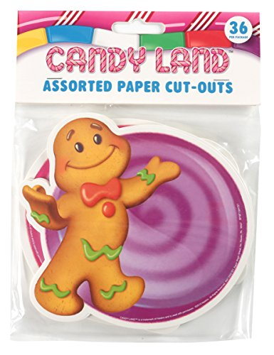 Eureka Candy Land Assorted Paper Cut-Outs, 12 Each of 3 Different Designs, 36-Piece -