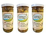 California Coast Naturals Hand Picked USDA Organic Stuffed Olive 3 Pack, Non-GMO, Gluten Free