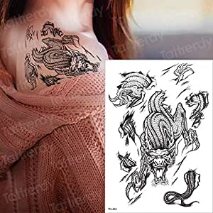 Zhuhuimin 5 unids Tatuaje Mangas Tatuaje Pegatinas Hombres Tatuaje ...