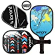 ianoni Graphite Composite Pickleball Paddle - Pickleball Paddle with Graphite Face & Polymer Honeycomb Core,Balanced Weight,Low Profile Edge,Meets USAPA Specifications (Wild Night-Blue)
