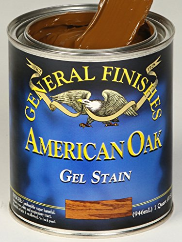 Oak Painted Finish (General Finishes OQ Oil Base Gel Stain, 1 Quart, American Oak)