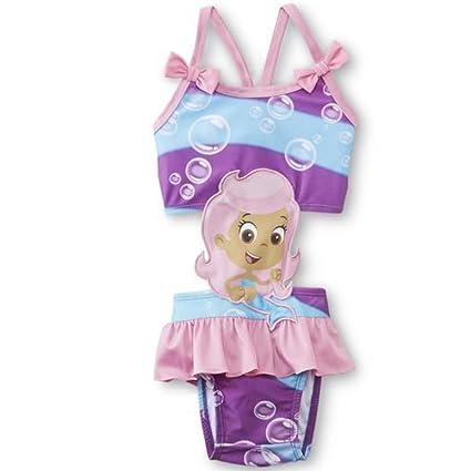 50 Nickelodeon Bubble Biquini Upf Rosa Guppies Chica Niños f6mIYgv7by