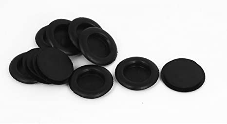 Sourcingmap 5pcs Black Rubber Closed Blind Blanking Hole Wire Cable Grommets 30mm