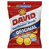 David Roasted & Salted Sunflower Seeds, Original All Natural 14.5 Oz (411g) Pack of 3