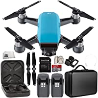 DJI Spark Portable Mini Drone Quadcopter Essential Portable Bag Shoulder Travel Case Bundle (Sky Blue)