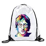 John Lennon The Beatles Sports Drawstring Backpack For Men & Women