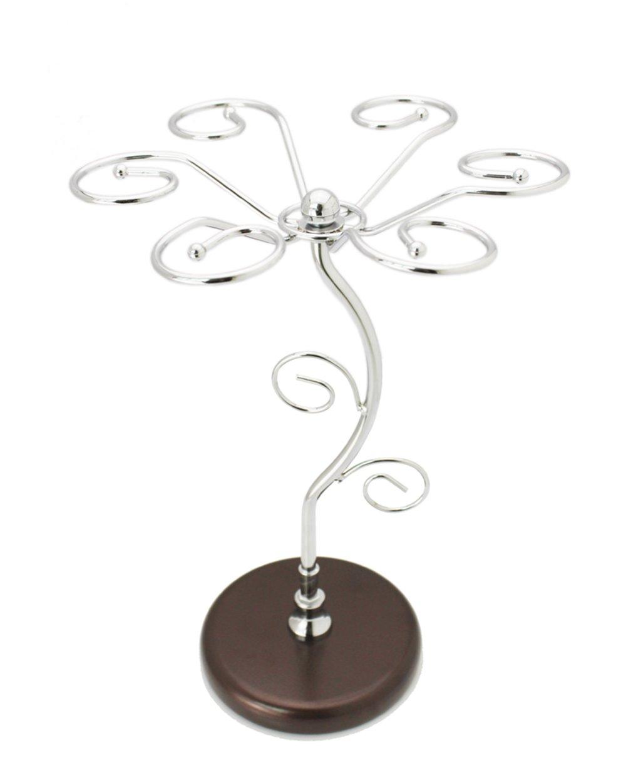 MyLifeUNIT Wine Glass Rack Stand, Metal Wine Glass Holder Rack Tree Display, 6 Cups DW16HW0124