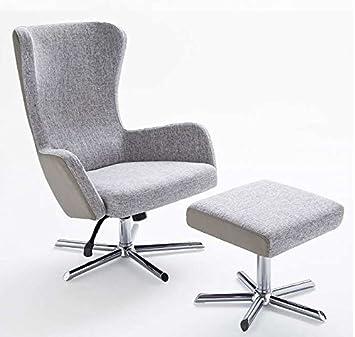 Relaxsessel Design Relaxsessel, Modernes Design, Stoff, 120 Kg, Grau Beige:
