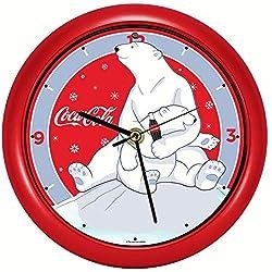 Mark Feldstein Coca-Cola Polar Bear w/Cub 8 inch Sound Clock