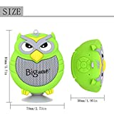 Bluetooth Speaker, Bigwave OWL Design Portable Wireless Mini Speakers with Built-in Mic, Hands-free Speakerphone, Support TF Card, Perfect for Home Car Party and Outdoor Activities (Green)