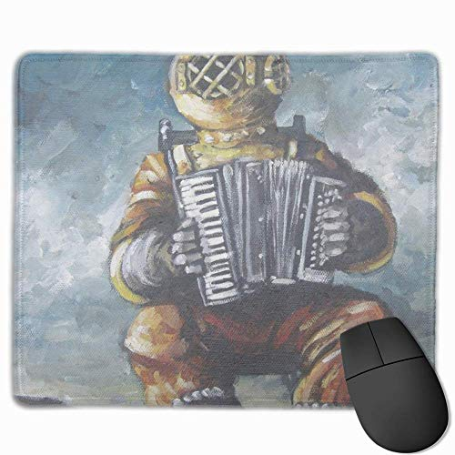 """Mouse Pad Non Slip Rubber Microphone Star Print Gaming 11.8"""""""