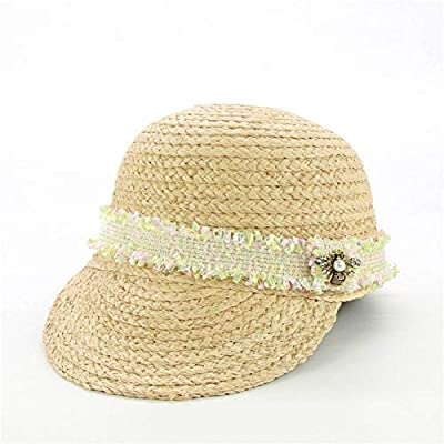 HSLPLX Tweed Belt Rafia Gorras de béisbol Moda Mujer Sombreros de ...