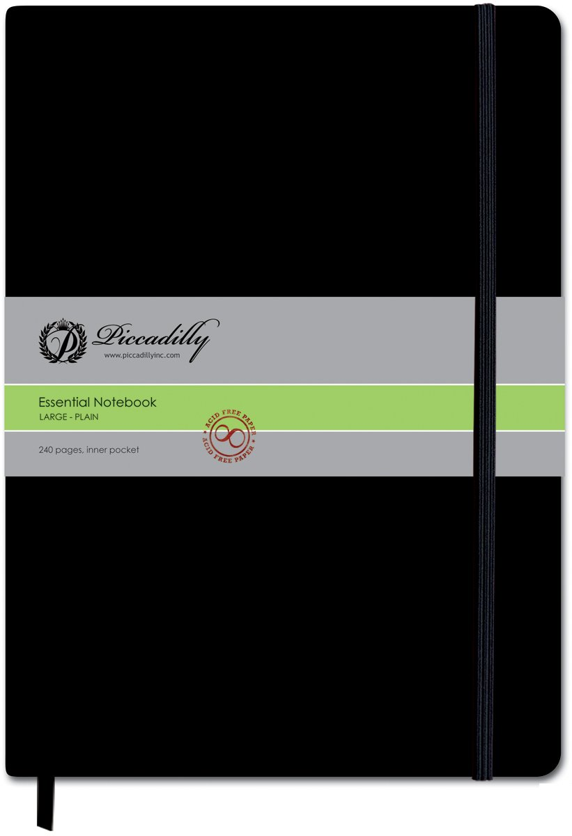 Piccadilly Essential Large Notebook (Plain Pages)