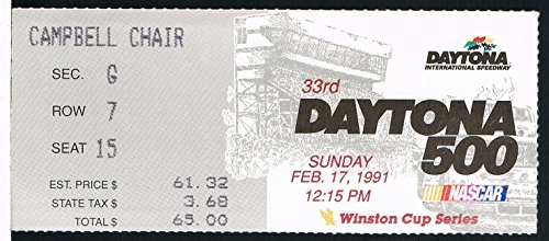 1991 Daytona 500 NASCAR Ticket Stub - Daytona 500 Tickets