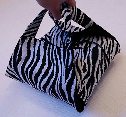 Zebra 8x8 Casserole Carrier - Black and White Animal Print, Made in USA