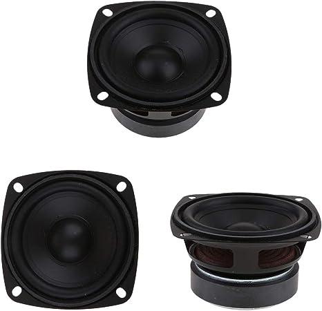 F Fityle 3pcs 15W Altavoz de Audio Estéreo 3 '' 4/8 Ohmios de Rango Completo Material de Hierro
