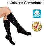 Cotton Compression Socks for Women. Graduated