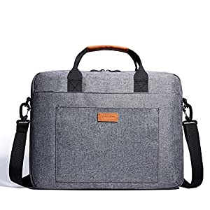 KALIDI 13.3-14 Inch Laptop Bag Water-resistant Shockproof Shoulder Bag Computer Case Sleeve with Detachable Strap for Laptop,Macbook,Notebook,Chromebook,Tablet,Grey