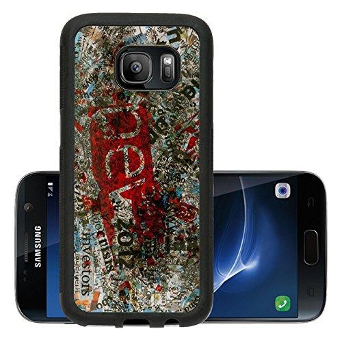 Liili Premium Samsung Galaxy S7 Aluminum Snap Case Newspaper s words background...